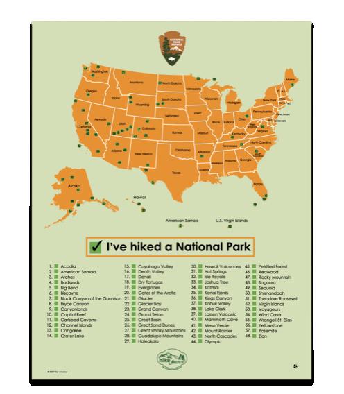 Nationalparks usa karte