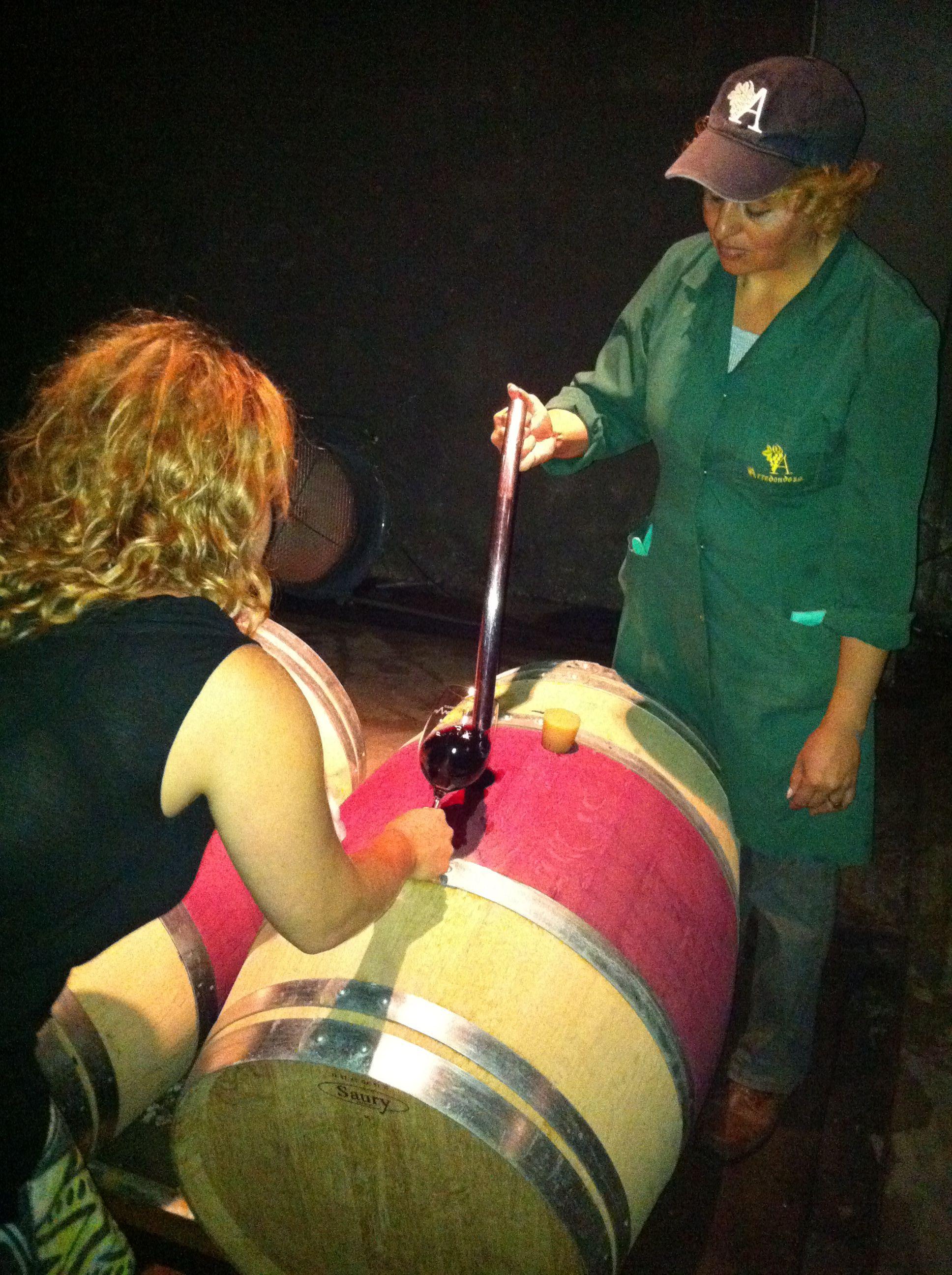 Barrel tasting at Kaiken