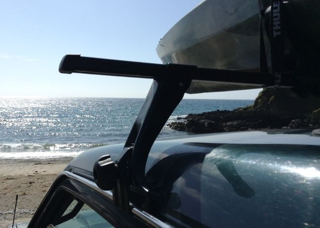 Review Thule Kayak Carrier 874 And Roof Bars Thule Rain Gutters Outdoor Gear