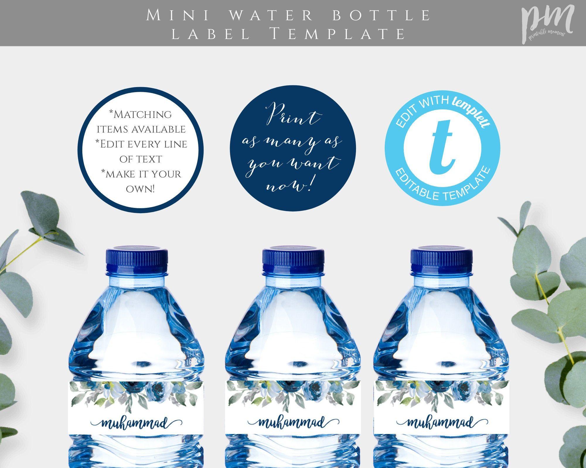Water Bottle Label Template Pdf Water Bottle Labels Template Printable Water Bottle Labels Water Bottle Labels Free