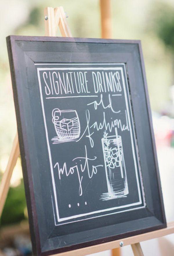 Chalkboard Signature Drink Sign