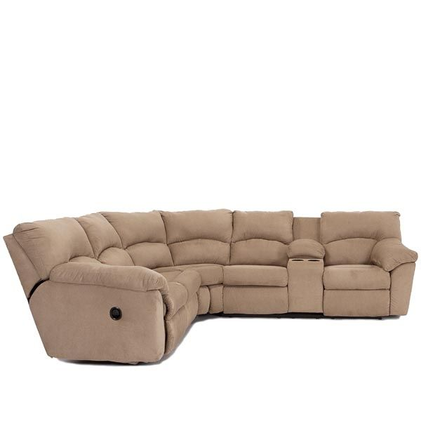 Living Room - Sectionals - Creme Donut With Storage 2 Piece Reclining Sectional - Living Room  sc 1 st  Pinterest : 2 piece reclining sectional - Sectionals, Sofas & Couches