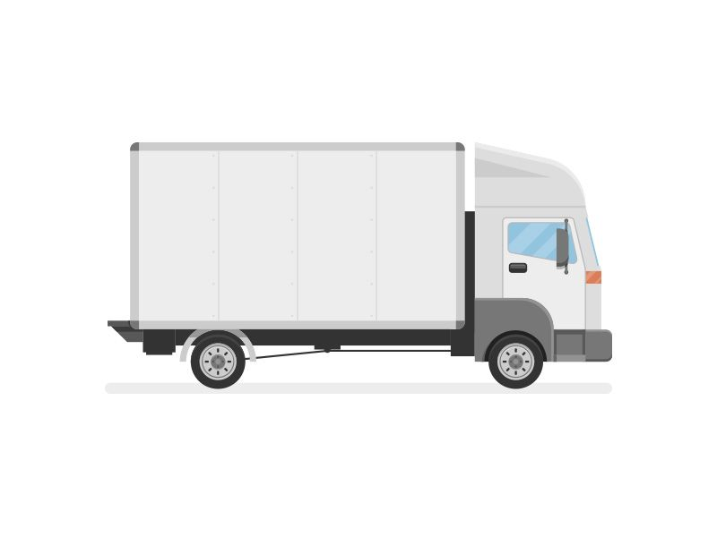 Cargo Truck Illustration Trucks Truck Design Moving Truck
