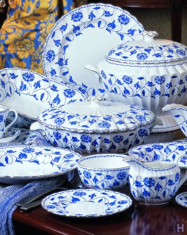 The Spode Blue Colonel Platinum Pattern