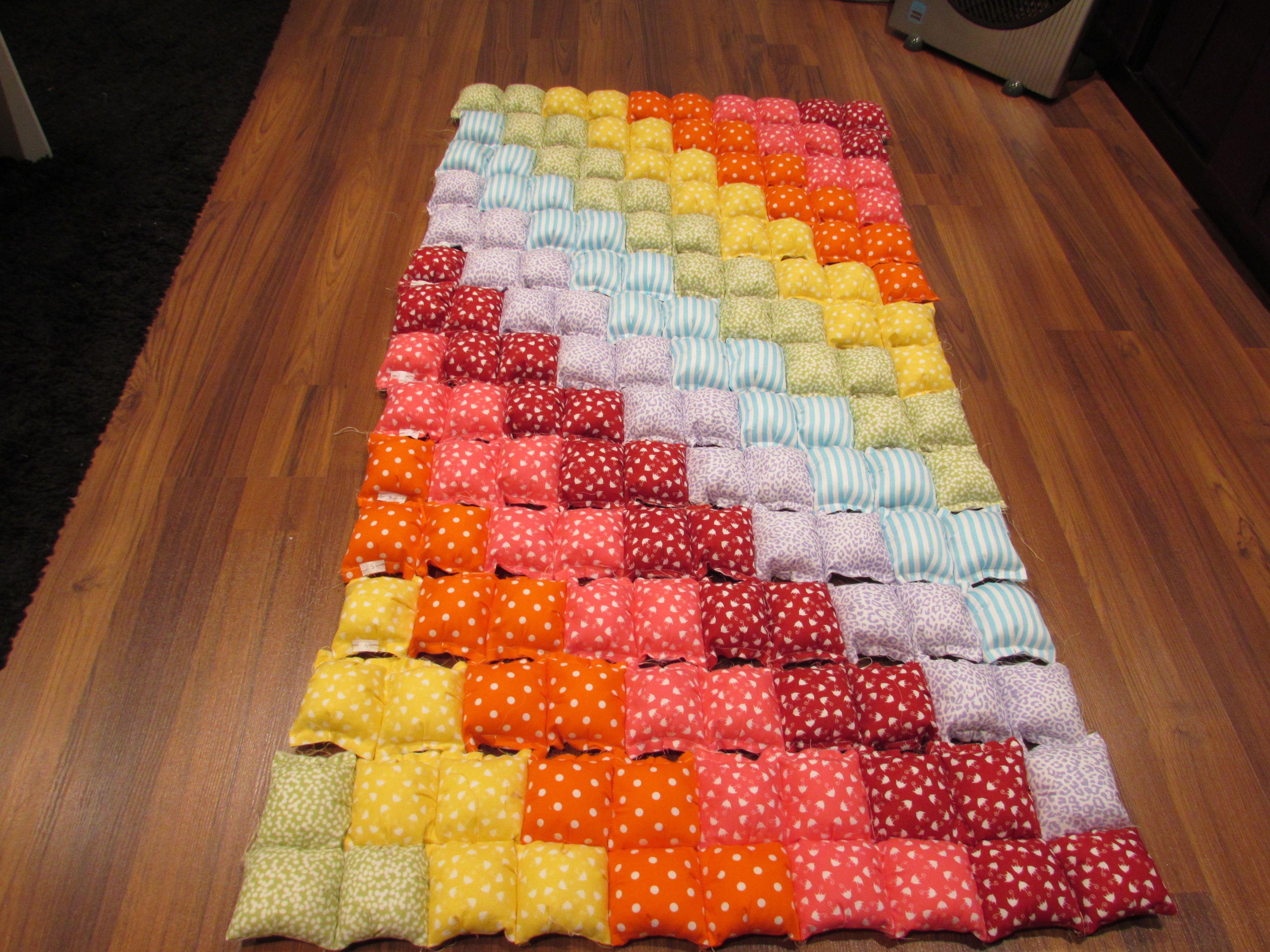 Puff quilt alfombra de juegos para bebes alfombra bebe puff quilt manta juegos bebe - Alfombras para bebes lavables ...