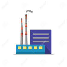 Coal Power Plant Icon In Flat Style Non Renewable Energy Industrial Plant Icon Non Renewable Energy Coal Energy