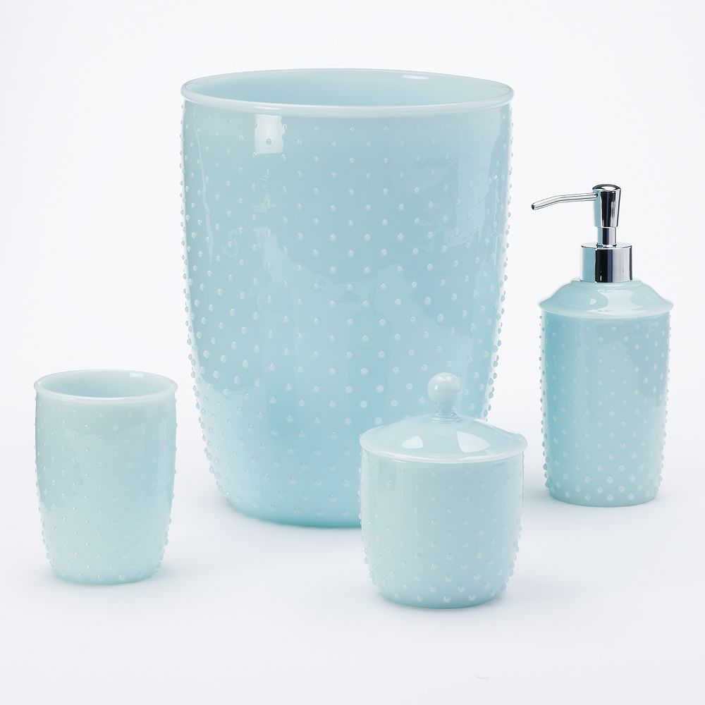 Marvelous LC Lauren Conrad Milk Glass Bathroom Accessories