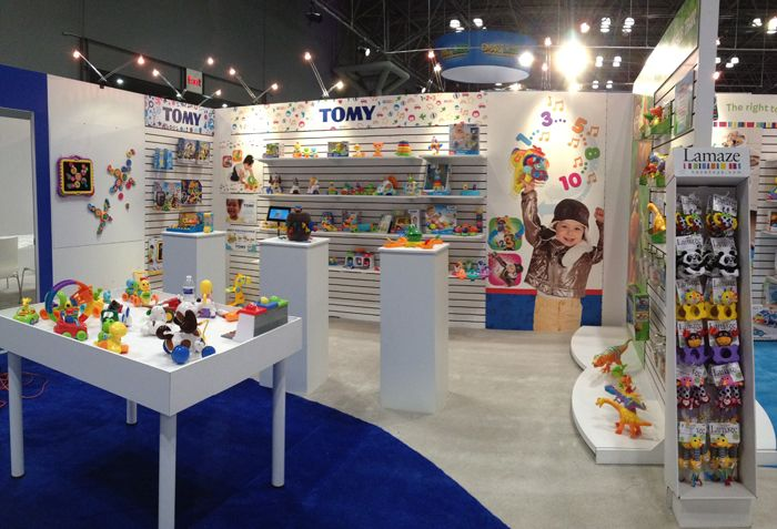 Exhibition Stand Game Ideas : Island exhibits toy fair trade show booth display design