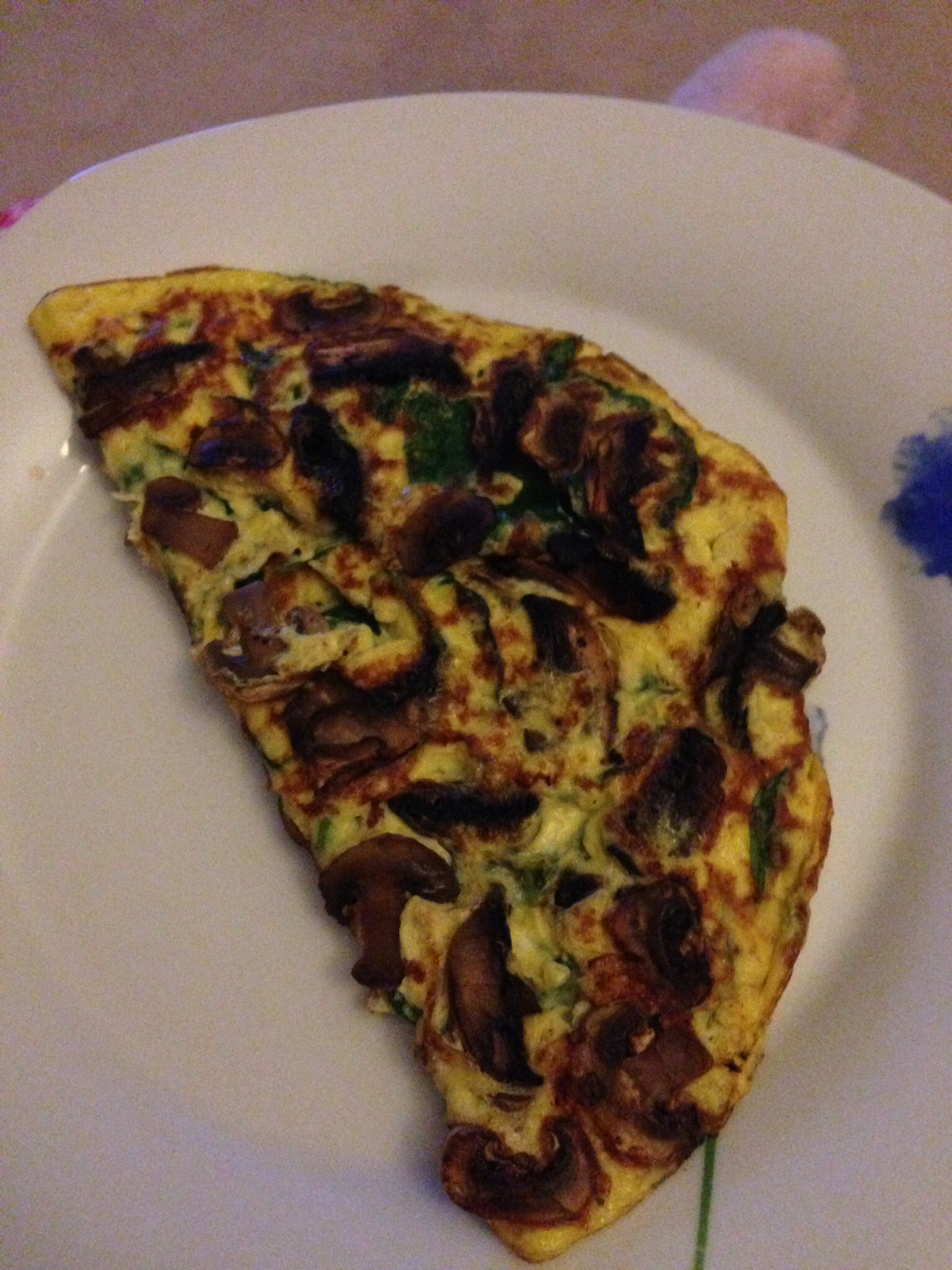 Spinach And Mushroom Omelette Step 2 Cambridge Diet Cambridge