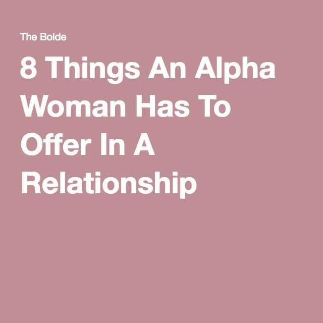 Dating sites for alpha females