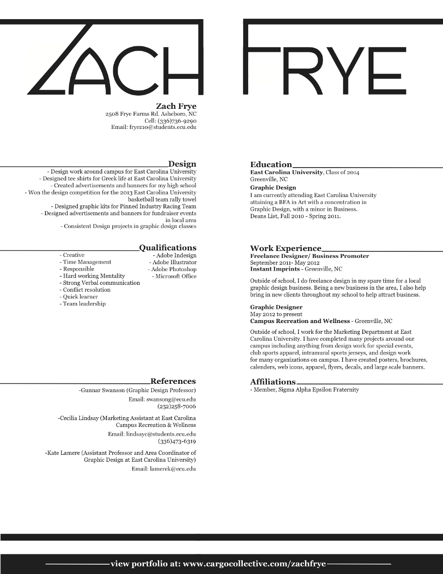 Design Resume  About Me Resume