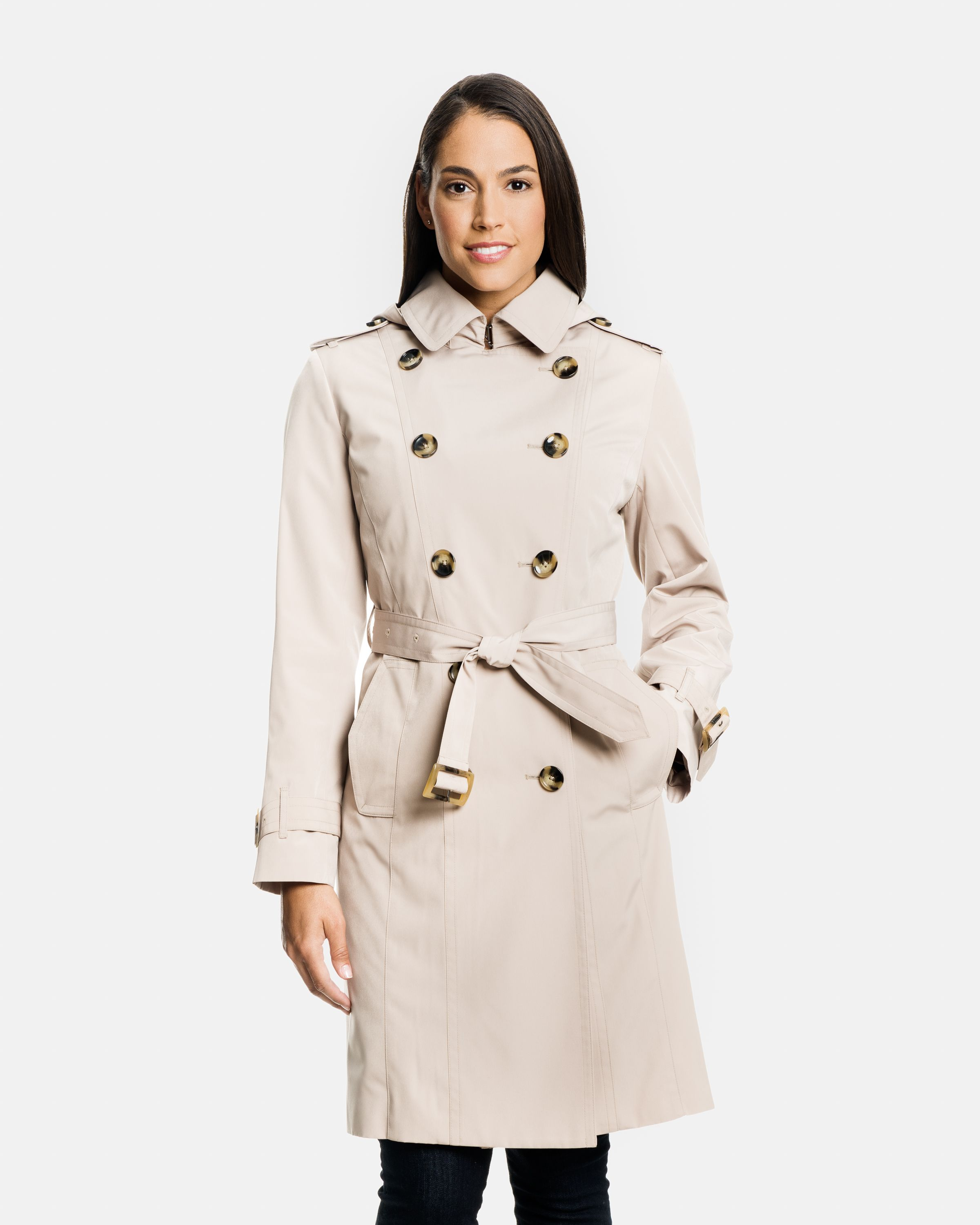 Double Ted Trench Coat, Classic London Fog Trench Coat