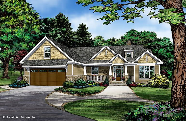 House Plan The Tanner By Donald A Gardner Architects Craftsman Style House Plans New House Plans Farmhouse Plans