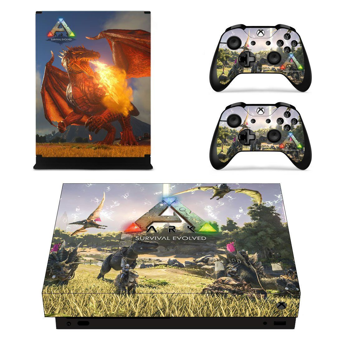 ARK Survival Evolved xbox one X skin decal for console and 2