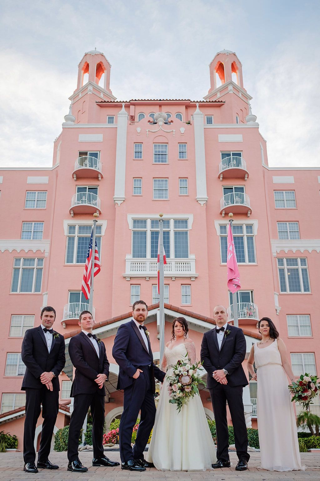 Contemporary Blush Pink and Burgundy St. Pete Beach ...