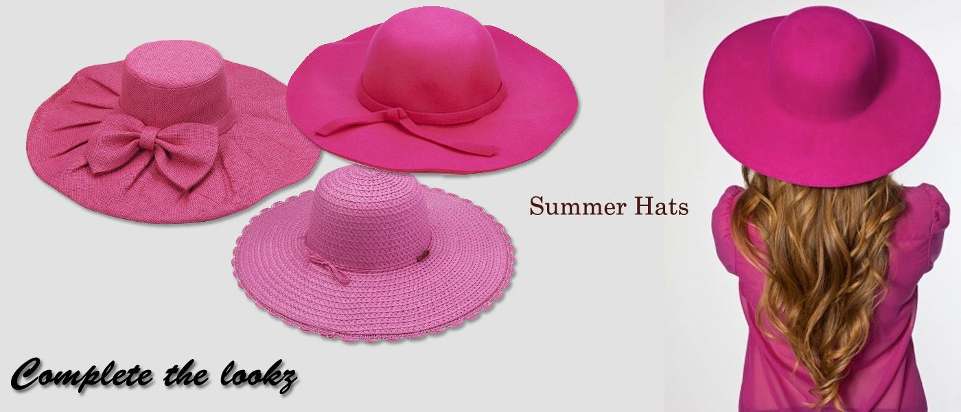 Lovely Pink #hats perfect for summer  Shop now @ http://www.completethelookz.co.uk/fashion-accessories/hair-accessories?page=2