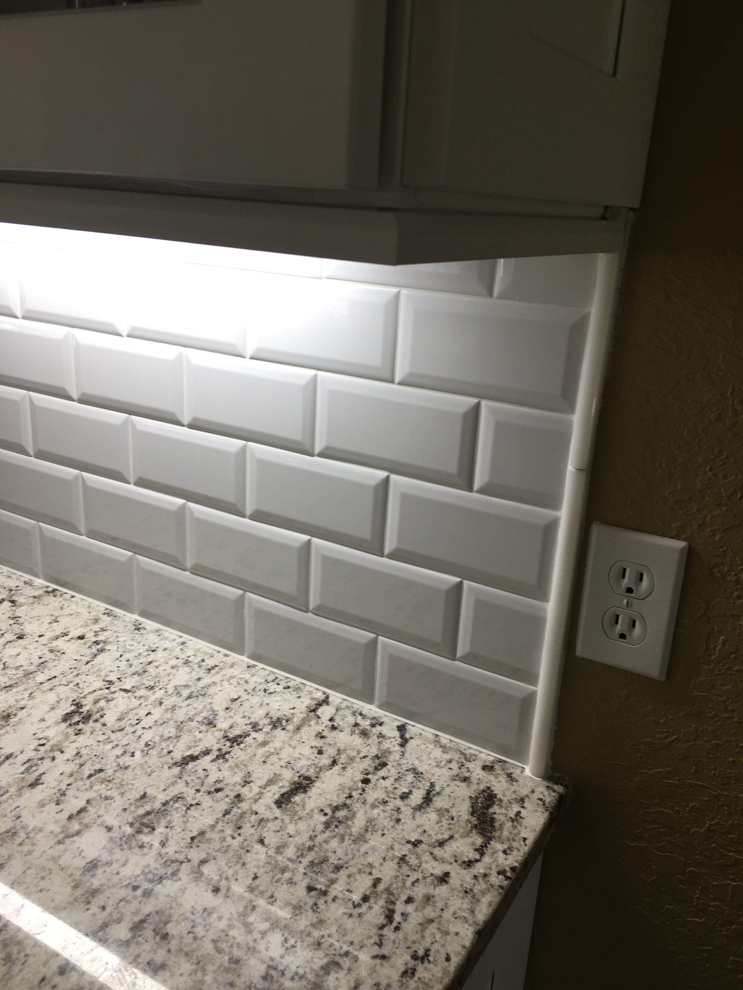 - 36 Beveled Edge Subway Tile Backsplash Odessa Florida In 2020