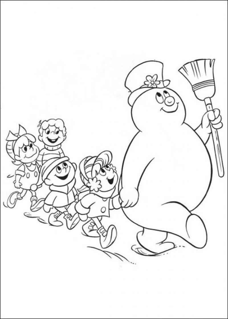 Frosty The Snowman Coloring Pages Printable Weihnachten Zum Ausmalen Wenn Du Mal Buch Malvorlagen Tiere