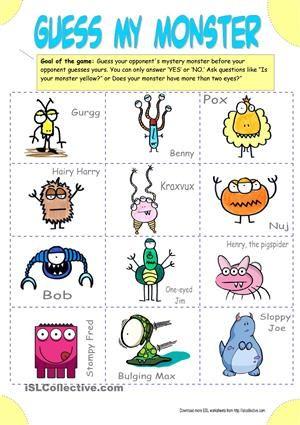 big_7369_guess_my_monster_guess_who_1.jpg | ESL | Pinterest ...