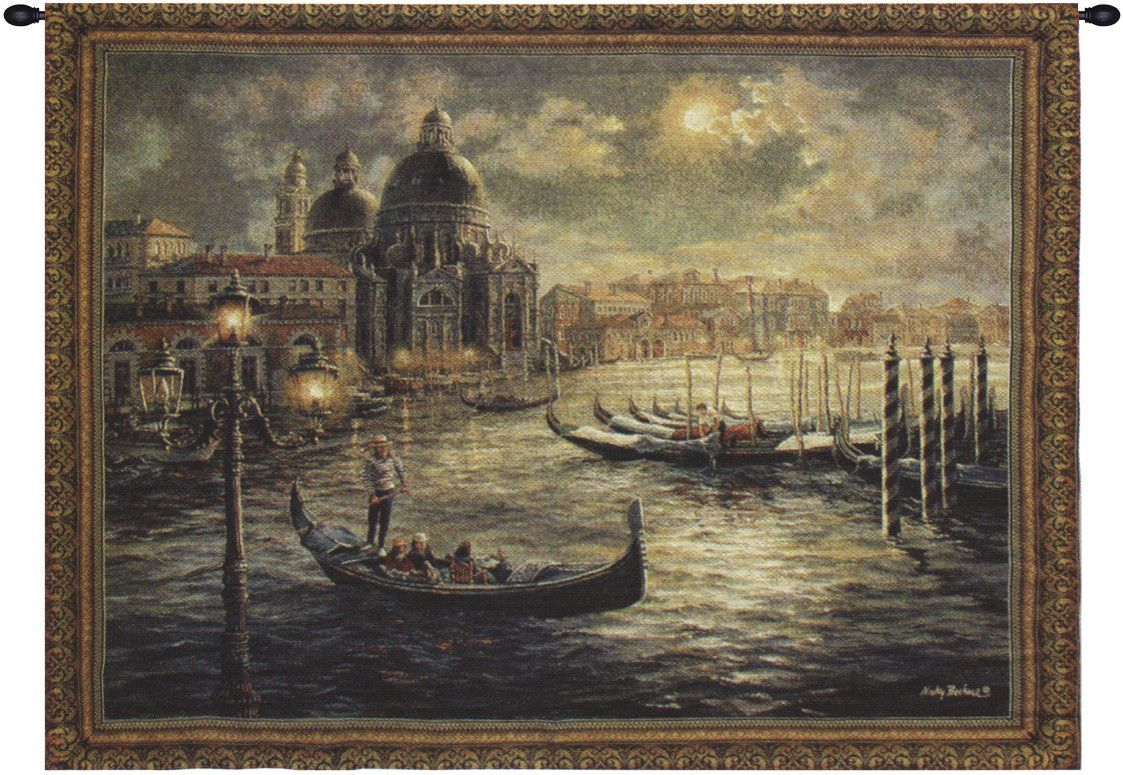 Gondolier Art, Tapestry wall art, Venice painting