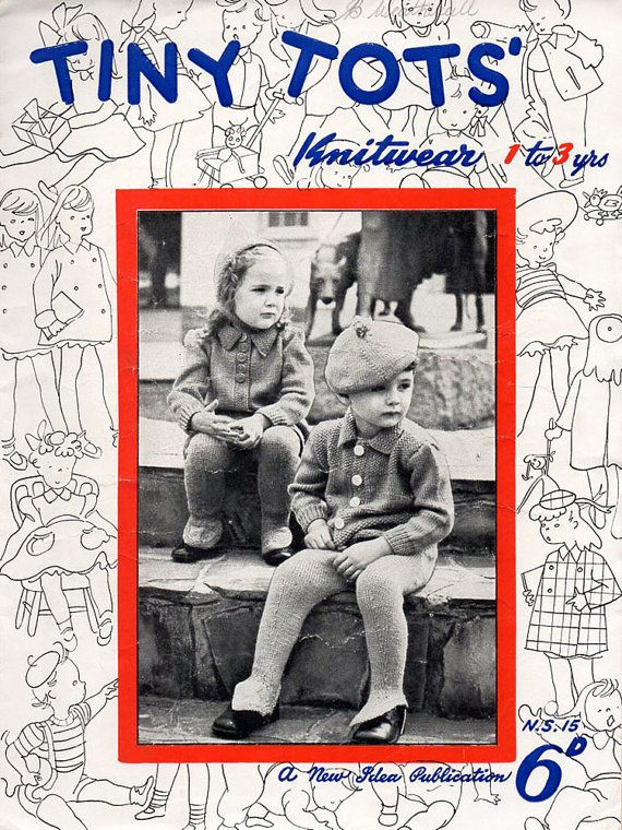 1940s Vintage Knitting Patterns for Children Tiny Tots ...