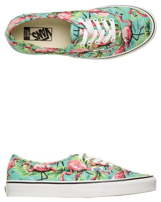 Vans Authentic (Van Doren)Turquoise Flamingo Sneakers (Men's US 9/Women's US 10.5)