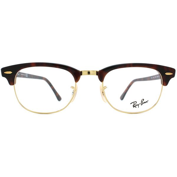 efcc51ec5604 ... ebay ray ban rx5154 clubmaster 2372 glasses 102 liked on polyvore  featuring accessories eyewear eyeglasses glasses