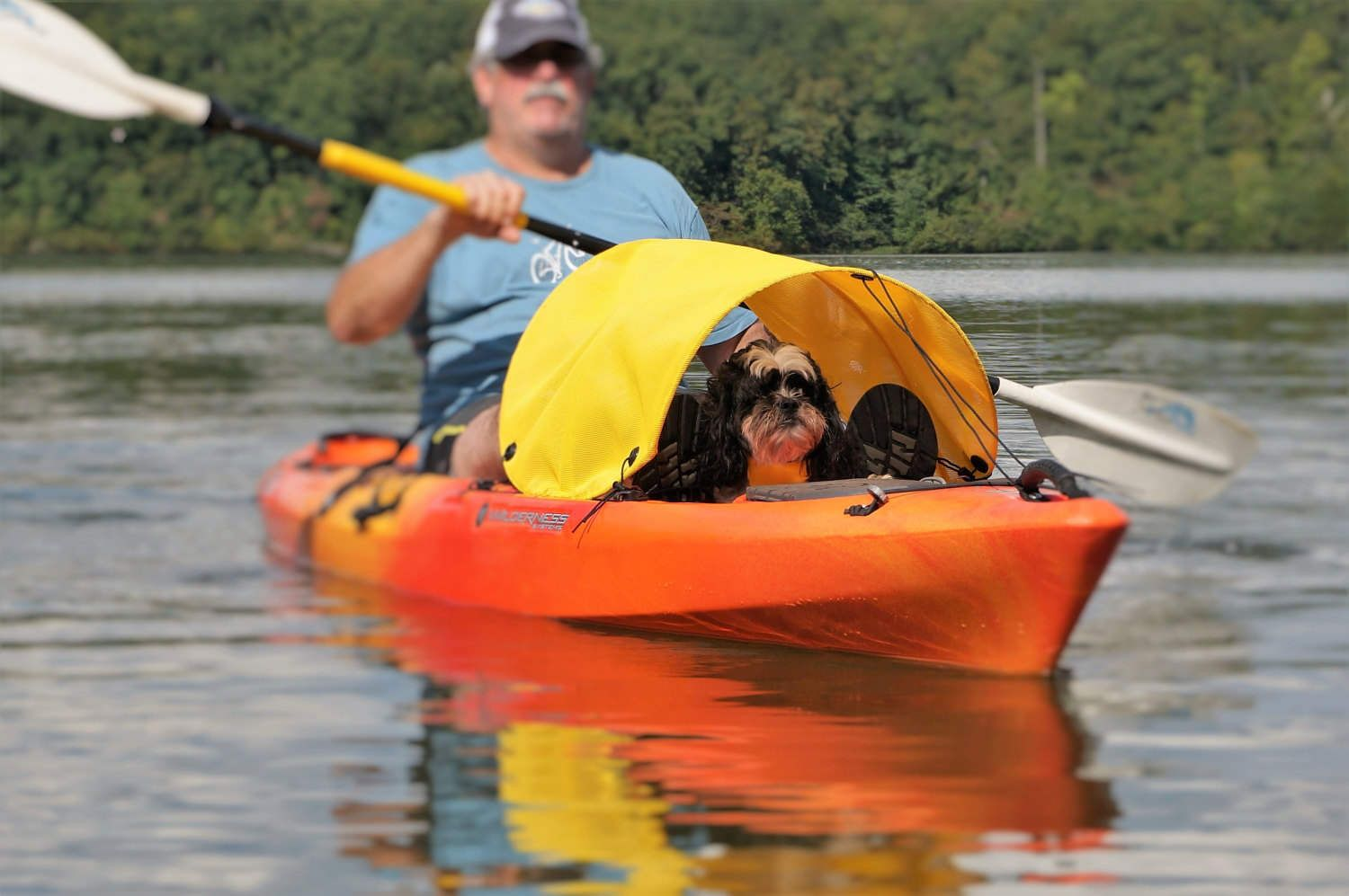 Dog Paddling Sun Shade For Kayaks Canoes And Sups By Woofshade On