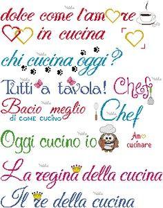 Schemi+con+frasi+per+strofinacci+:-+Due+cuori+in+cucina;-+La+ ...