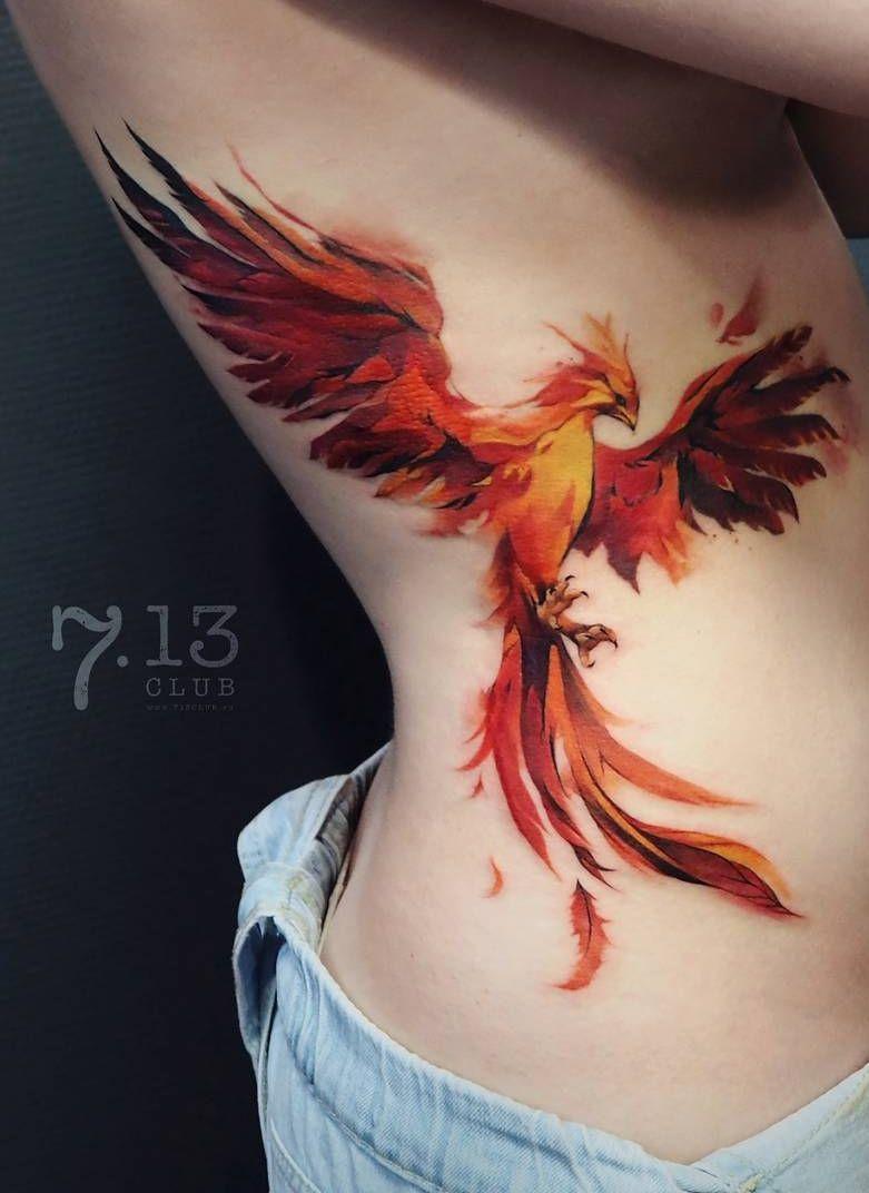 Watercolor Tattoos Will Turn Your Body Into A Living Canvas Fire Tattoo Phoenix Tattoo Phoenix Tattoo Design