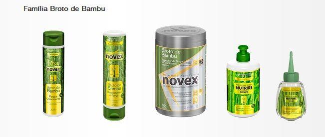 Nova linha completa da Novex broto de bambu , a melhor do mundo *-*