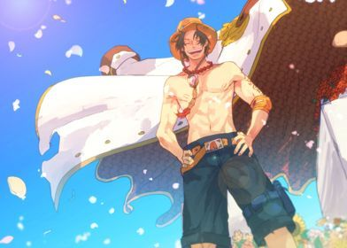 Metal Poster One Piece Portgas D Ace