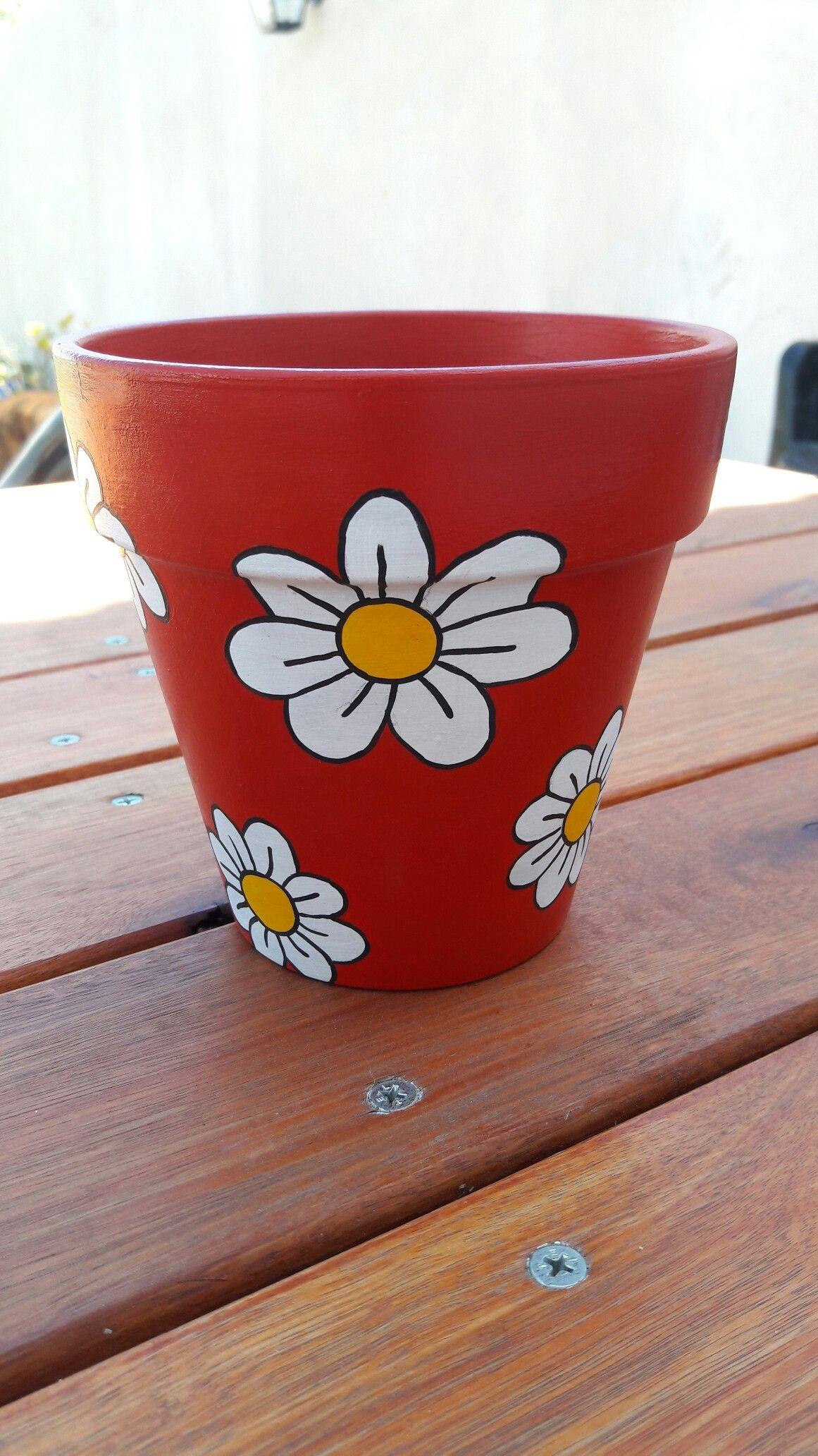 Diy Brush Stroke Pots Diy Flower Pots Flower Pot Crafts Clay Pot Crafts