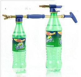 Nozzle van zuiver koper vergeldende enkele dubbele slider nozzle gieter waternevel draagbare drukspuit
