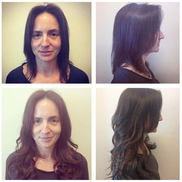 Hotheads Hair Extensions Before And After Hair At Salon Method