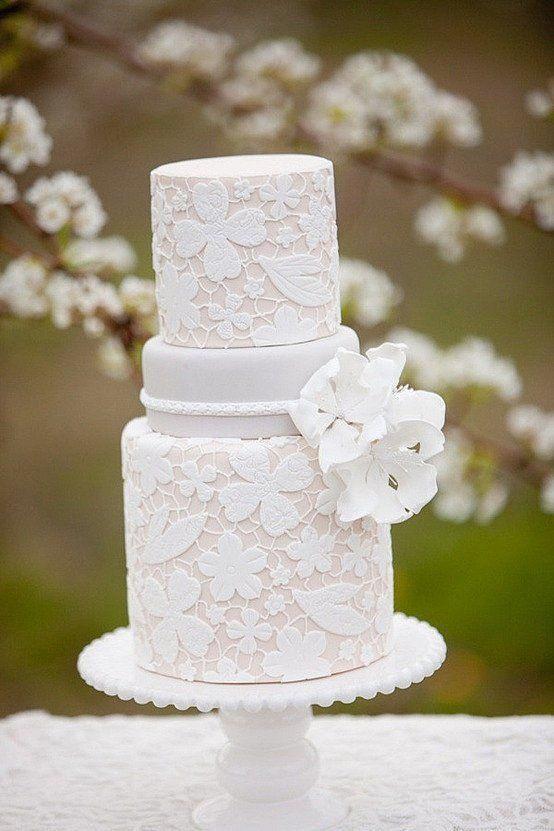 Vintage Lace Wedding Cake Ideas Lace Wedding Cake Big Wedding Cakes White Wedding Cakes