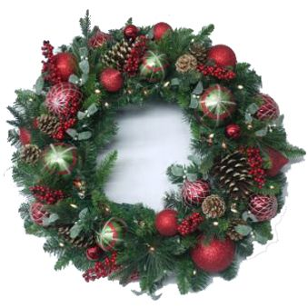 artificial christmas wreaths pre lit 32 decorated artificial christmas wreath american sale