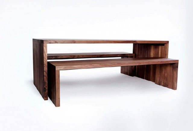 Dining Tables With Benches Nesting Table And Modern Vancouver