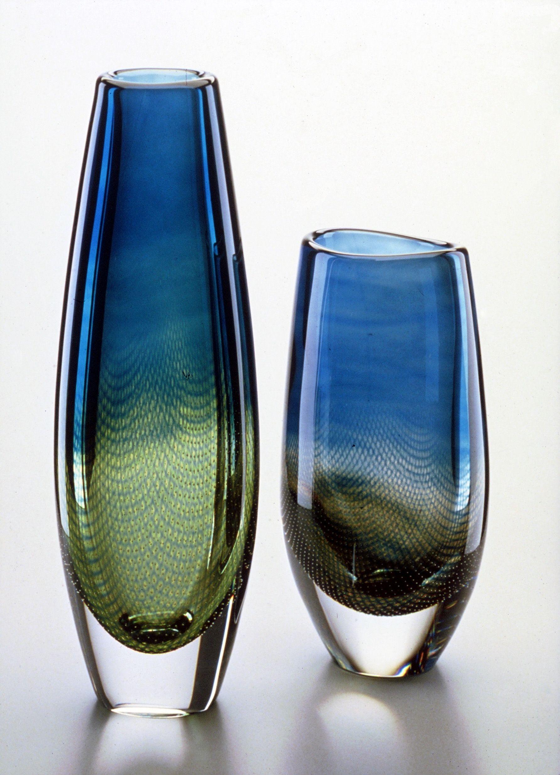 Kraka Sven Palmqvist Orrefors Glass Vases Centerpieces Gorgeous Glass Glass Art