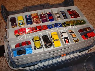 Use A Fishing Tackle Box For Storing Matchbox Cars. They Come In Many Sizes  And Already Have Dividers So The Cars Can Be Separated.