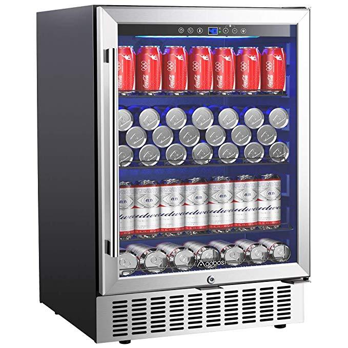 709 24in Amazon Com Aobosi 24 Inch Beverage Cooler 164 Cans Freestanding And Built In Beverag Beverage Cooler Beverage Refrigerator Built In Beverage Cooler