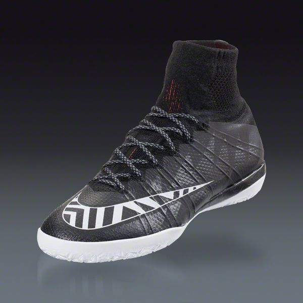 Nike Mercurial Superfly X Street IC - Black White Hot Lava Indoor Soccer  Shoes  2be41b5438b