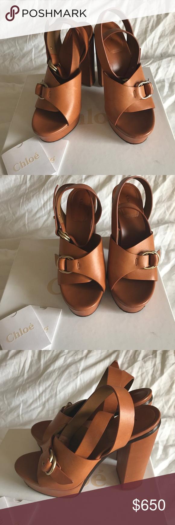 8b1accd0dab Chloe Kingsley Platform Buckle Sandal Chloe matte leather sandal. 5