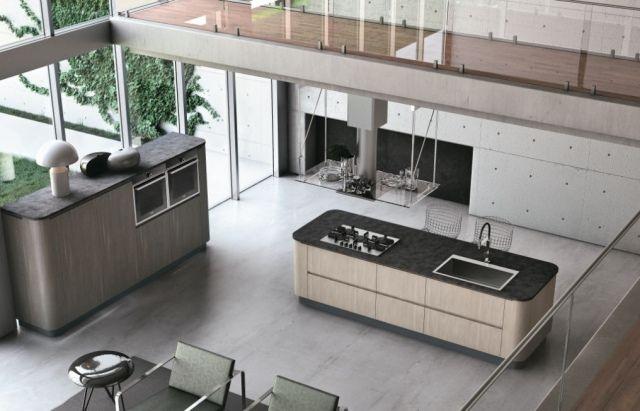 stosa bring freistehender küchenblock holz graue arbeitsplatte ... | {Küchenblock freistehend rustikal 32}