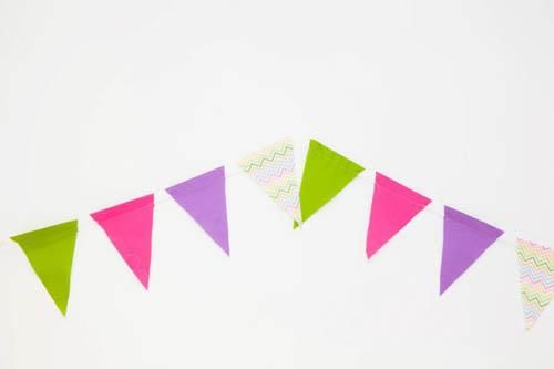 Diy Chic Pennant Banner  Alyssa  AubreeS Room Ideas