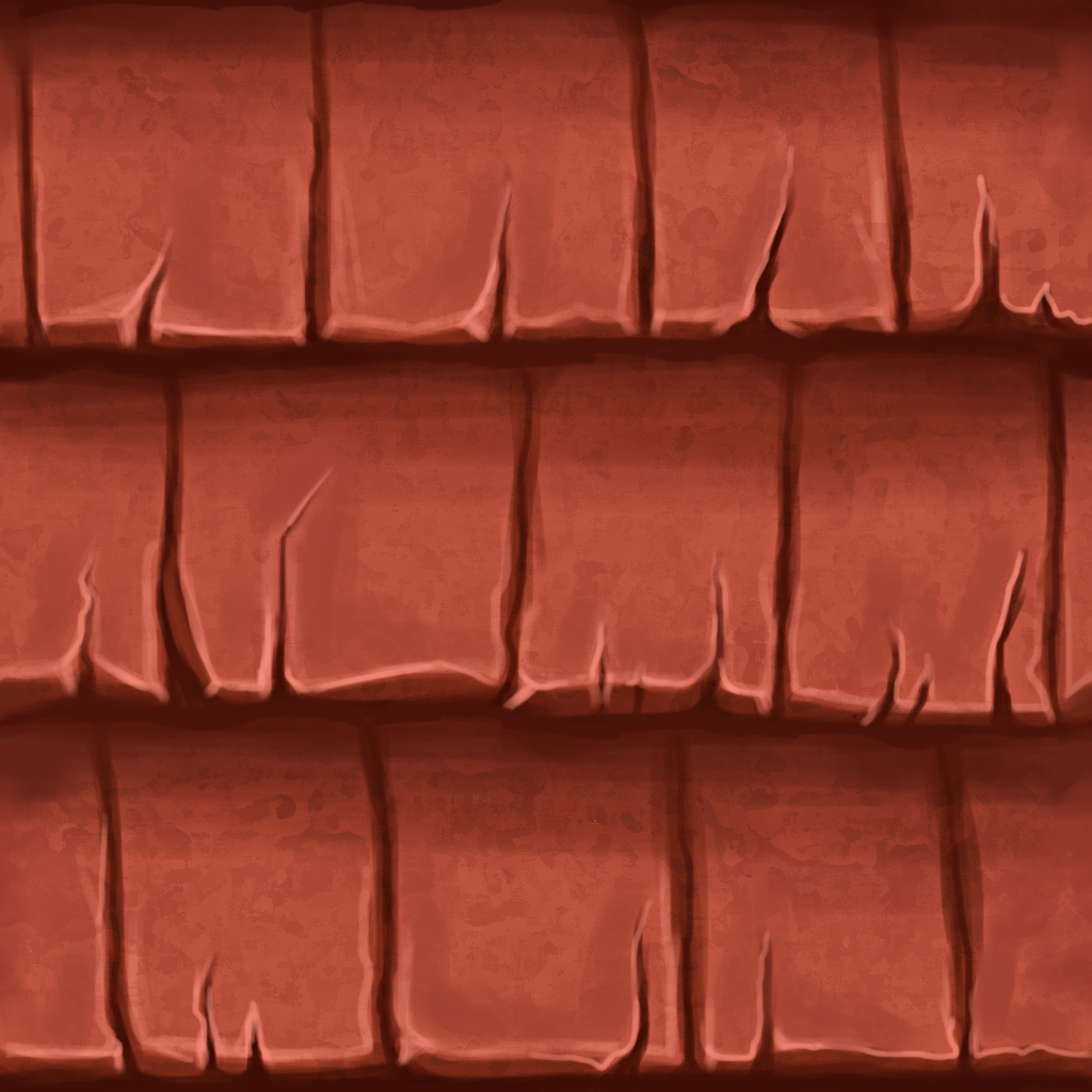 Tile Roof Handpainted Textures Material Texture Art