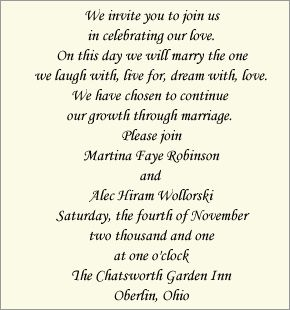 Wording for wedding invitations from kids