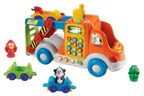 awesome VTech - Pull and Learn Car Carrier  80-049741 Features: -Three animal characters are recognized when placed in the driver's seat.-Motion sensor for on the go fun.-Removable CB radio for ... http://imazon.appmyxer.com/toys/vtech-pull-and-learn-car-carrier/