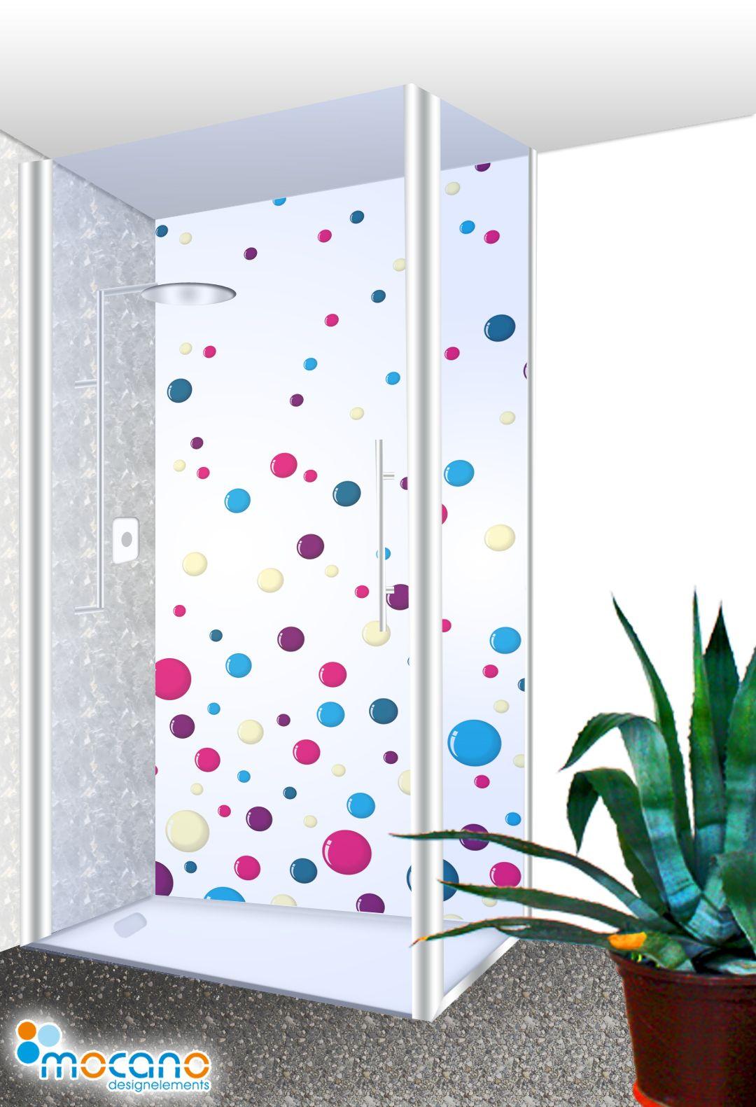 Colour Bubbles Duschruckwand 100x210cm Duschruckwand Dusche Badgestaltung