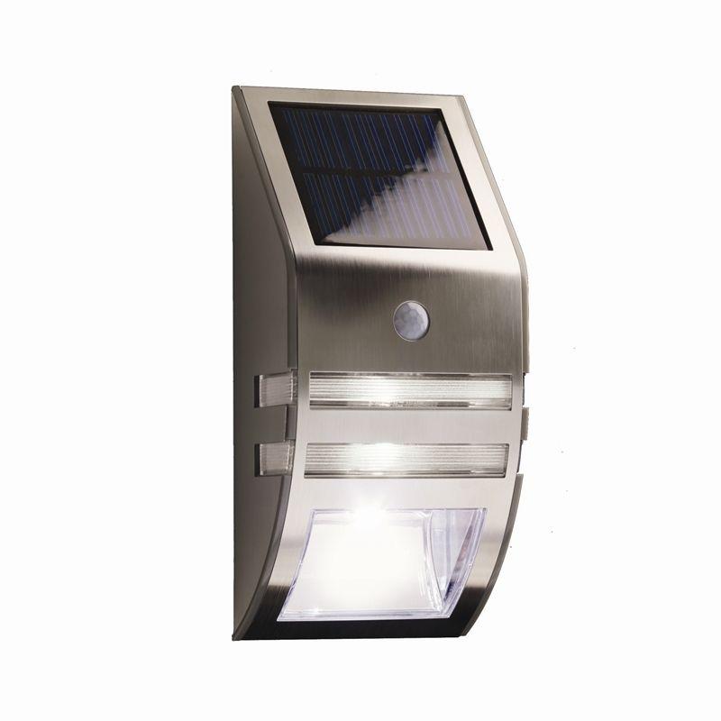 Lytworx Stainless Steel Warm White Led Solar Security Light 19 98 Lightsecurity Lightingoutdoor